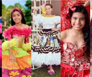 Varias de las candidatas al Reinado Infantil Nacional e Internacional del Folclor.
