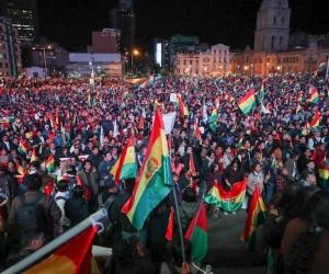 Protestas contra Evo Morales en Bolivia.