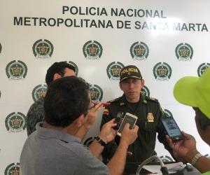 El comandante de la Policía Metropolitana de Santa Marta, coronel Gustavo Berdugo, entregó declaraciones sobre este caso.