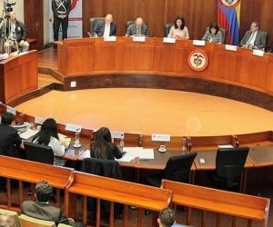 Los que votaron en contra de tumbar la ley fueron los magistrados Gloria Ortiz, Luis Guillermo Guerrero y Carlos Bernal.