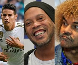 ames Rodríguez; Ronaldinho; Carlos 'El Pibe' Valderrama