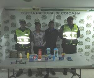 Andreina Paola Cárdenas Díaz y Luis Alejandro Díaz, fueron los capturados.