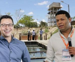 Carlos Caicedo, candidato a la gobernación del Magdalena y Ricardo Torres, gerente de Aguas del Magdalena.