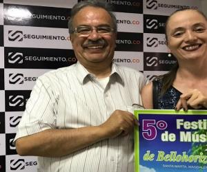 Antonio Sánchez y Angela Duque, organizadores del evento.