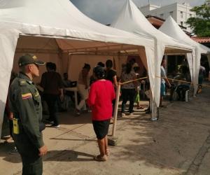 En los  puestos de votación hubo presenta la Policía.