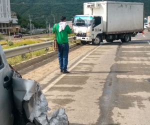 Accidente en la Troncal del Caribe.