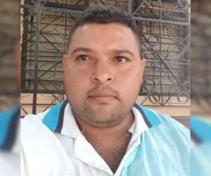 Elkin de La Cerda Casiano, herido por atentado a bala.