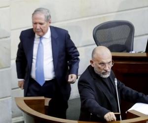 Roy Barreras y el ministro Botero.