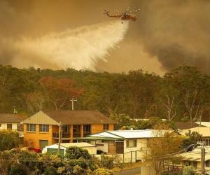 Incendios forestales en Australia.