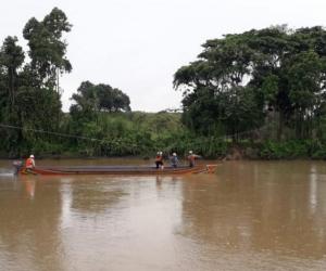Trabajadores de Ecopetrol en la zona afectada.
