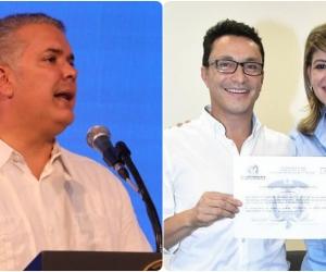 Iván Duque conversó con Carlos Caicedo y con Virna Johnson para trabajar juntos.