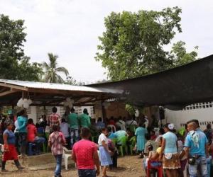 Zona donde se albergan los desplazados.