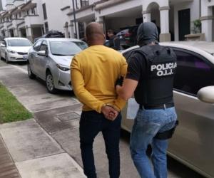 """Julio César Racines Arroyo alías """"el ingeniero"""", capturado en Costa Rica."""