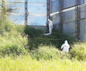 El cuerpo fue hallado en horas del mediodía de este lunes.