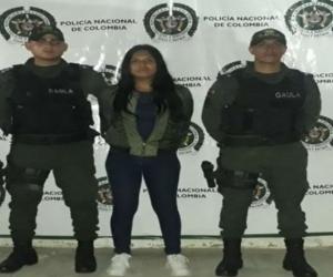 Kelly Narváez, capturada.
