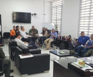 Reunión del Consejo Municipal para la Gestión del Riesgo de Desastres (CMGRD).
