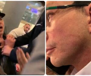 Imágenes de la agresión entre Àlvaro Cotes y Carlos Caicedo.