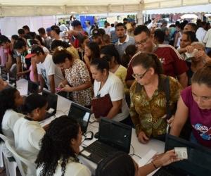 Feria para migrantes en Santa Marta