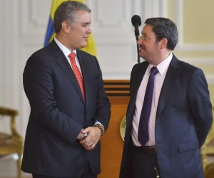Iván Duque y Francisco Santos
