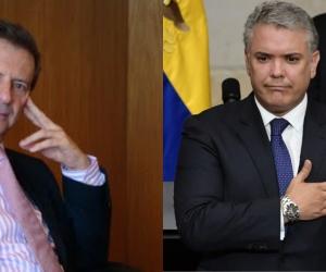 Fernando Londoño e Iván Duque.