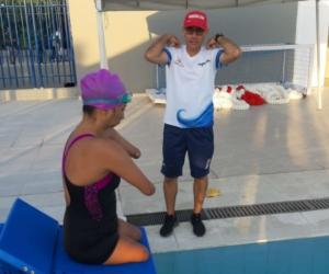 Virgelina María Contreras Maldonado se sumergió en el complejo acuático Jaime González de Cartagena para colgarse la presea de bronce.