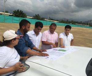 El viceministro de Vivienda, Víctor Saavedra Mercado, fue el encargado de realizar la respectiva inspección.