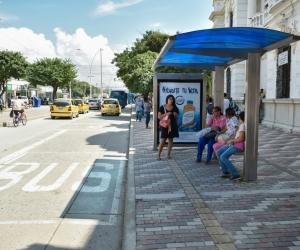 Paraderos de buses en Santa Marta