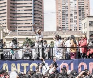 La cantante Adriana Lucía lideró la convocatoria del concierto del paro