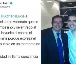Peter Manjarrés, que coincidió con Gustavo Petro en años anteriores, se quejó por su post en Twitter.