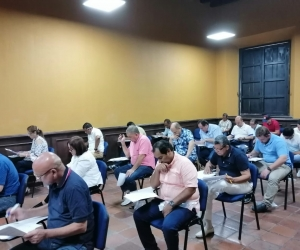La prueba se desarrolló en el salón Madre Margoth del Claustro San Juan Nepomuceno de la Universidad del Magdalena.
