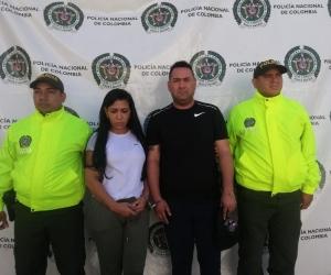 Cristian Camilo González Robles, alias 'Bejuco', y su acompañante.