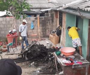 Bomberos controlaron el incendio.