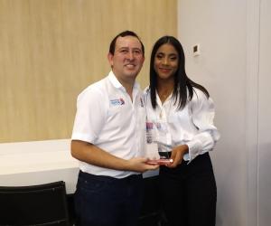 La multicampeona conquistó dos preseas doradas para el Magdalena y la Gobernación le dio un millón de pesos.