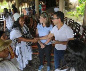 Los mandatarios electos sostuvieron un encuentro con cabildos gobernadores y demás autoridades de los pueblos indígenas.