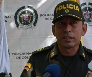 Gustavo Berdugo, comandante de la Policía de Santa Marta.