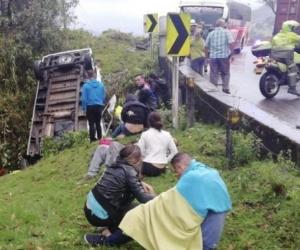 Las víctimas mortales murieron en el lugar del accidente.