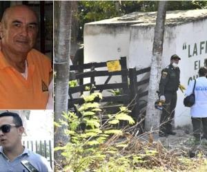 Jaime Herrán Oviedo fue asesinado en su finca junto con otras tres personas. Abajo, su hijo Víctor, quien encontró los cuerpos.