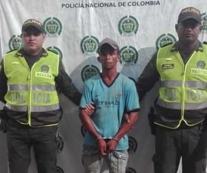 José Vicente Pertúz Vizcaíno, detenido en Pivijay, Magdalena