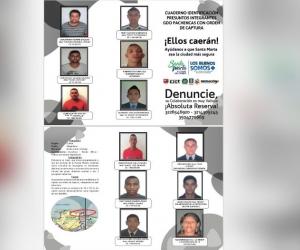 Los miembros de 'Los Pachenca' que buscan las autoridades.