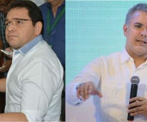 Alcalde Martínez y el presidente Iván Duque.