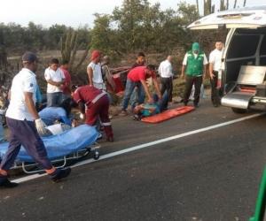 Los heridos fueron trasladados a Ciénaga, Magdalena.