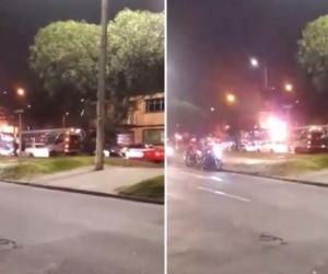 Incendio en estación de gasolina, en la localidad de Kennedy, Bogotá