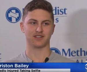 Triston Bailey, joven estadounidense que por tomarse selfie en un puente, casi muere