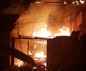 Incendio de vivienda en Guamal, Magdalena.