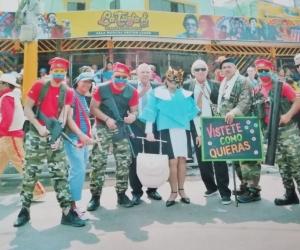 Mujer recibe amenazas e insultos por disfraz de Primera Dama en carnaval de Barranquilla