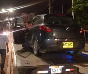 Varios vehículos que prestaban los servicios de Uber e InDriver fueron inmovilizados.