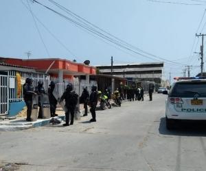 Lugar de los hechos en el barrio Rebolo.