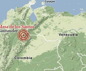 Sismo en el municipio de Los Santos, en Santander