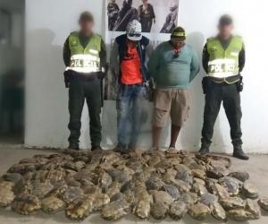 Pedro Manuel Estaría Martínez  y Javier Eduardo Fonseca Marchena, capturados por caza ilegal