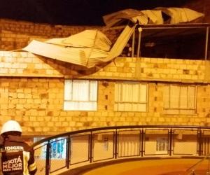 Vendaval dejó afectaciones en viviendas de la capital colombiana